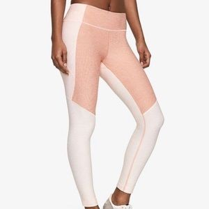 Outdoor Voices Pink Tri-Tone 7/8 Legging